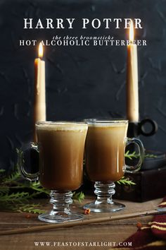 Hot Alcoholic Butterbeer recipe from the Harry Potter Food Series (For those who partake in imbibe.)
