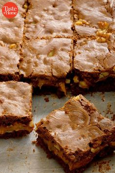 Chocolaty, fudgy and all-around delicious, these from-scratch vintage brownie recipes have withstood the test of time for a reason. Potluck Desserts, Potluck Dishes, Desserts For A Crowd, Potluck Recipes, Easy Desserts, Fall Recipes, Dessert Recipes, Cooking Recipes, Potluck Ideas