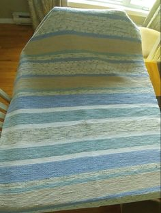 Catalonia woven on loom 88 inches wide by 110 inches long. Queen Beds, Crochet, Loom, Weaving, Etsy, Bed Covers, Towels, La Perla Lingerie, Pastel Colors