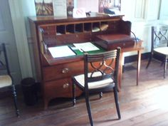 Early 1800's antique writing desk in Charleston, SC.