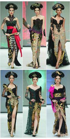 kebaya bali Anne Avantie IFW 2014 Kebaya Dress, Kebaya Brokat, Batik Kebaya, Batik Dress, Batik Fashion, Ethnic Fashion, Style Fashion, Modern Kebaya, Javanese Wedding
