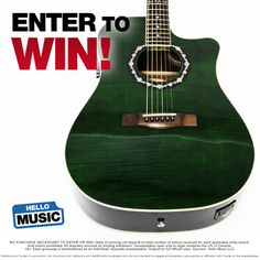 Win a St Patty's Day Green Fender acoustic-electric guitar from Hello Music this March! Enter at www.hellomusic.com/giveaways