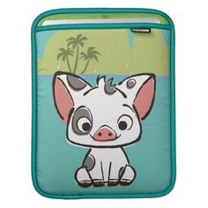 Moana | Pua The Pot Bellied Pig  iPad Sleeve Macbook Air Sleeve, Ipad Sleeve, Personalized Gifts For Kids, Customized Gifts, Custom Gifts, Moana Gifts, Moana Pua, Pot Belly Pigs, Little Pigs