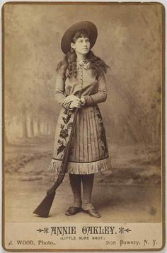 Annie Oakley was the princess of the Wild West show.