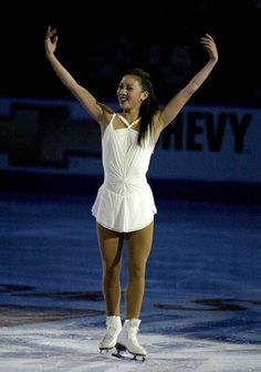 Image detail for -Michelle Kwan at the end of her program in the Chevy Skating ...