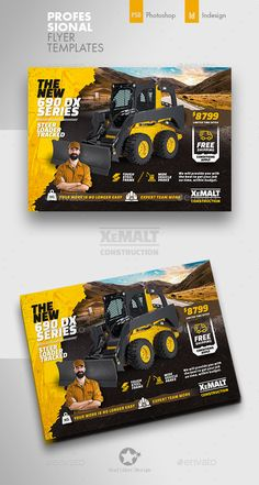 Buy Construction Flyer Templates by grafilker on GraphicRiver. Construction Flyer Templates Fully layered INDD Fully layered PSD 300 Dpi, CMYK IDML format open Indesign or late. Corporate Flyer, Business Flyer, Business Card Design, Flyer Design Templates, Flyer Template, Catalogue Layout, Facebook Cover Design, Restaurant Flyer, Poster Art