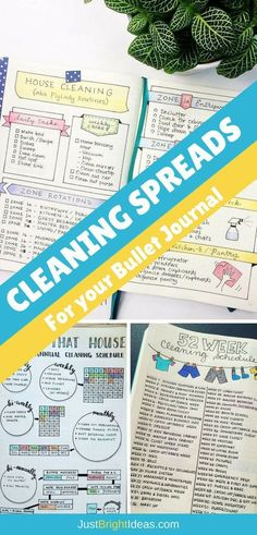 If you struggle to keep your home clean and tidy you're going to love today's Bullet Journal cleaning schedules. Pick out the spread that you love the most and stay on top of the chores once and for all! #bulletjournal #cleaning #bujo #weekly #journal