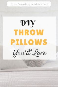Learn how to make three amazing, inexpensive and cute no-sew throw pillows. These adorable throw pillow are great for both beginners and experienced DIYers.  DIY Throw Pillow| DIY Pillow| DIY Home Decor