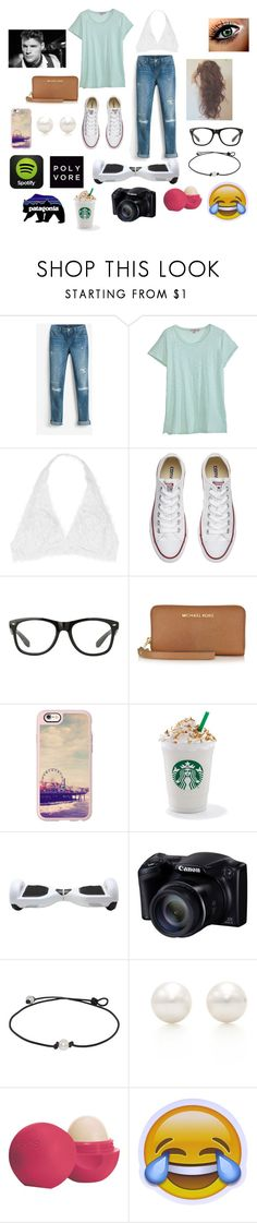 """""""Literally, My Life😄"""" by taybug2147 ❤ liked on Polyvore featuring White House Black Market, Calypso St. Barth, Youmita, Converse, Michael Kors, Casetify, Tiffany & Co. and Eos"""