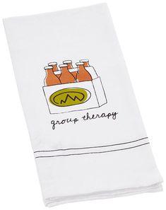 "Cork Pops Beer Bar Towel: ""Group Therapy"" Beer Bar, Cork, Towel, Therapy, Group, Corks, Healing"