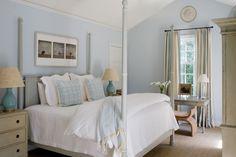 Calm, blue bedroom
