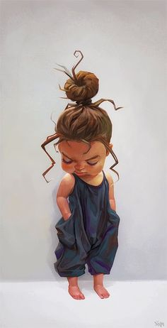 Cute girl, Ilina Simova on ArtStation at… Cute Cartoon Pictures, Cartoon Pics, Girl Cartoon, Cartoon Art, Baby Cartoon Drawing, Art Black Love, Black Girl Art, Art Anime Fille, Anime Art Girl