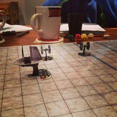 Running the blockade in orbit of Coruscant. Punch it!
