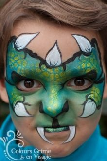 Monster # Make-up # Schmetterling # Schmetterlings-Make-up - Famous Last Words Monster Face Painting, Dragon Face Painting, Face Painting For Boys, Face Painting Designs, Body Painting, Fete Halloween, Halloween Make Up, Halloween Face Makeup, Dragons