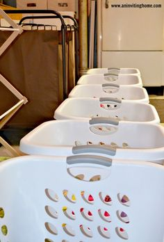 Simple and quick laundry system for family of 7 and only takes an hour a week!