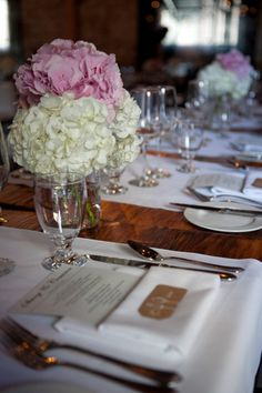 pink/ white hydrangeas - Toronto Wedding at Archeo from Yellow Butterfly Photography