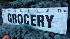 GROCERY SIGN House Signs, Kitchen Signs, Vintage Kitchen, Farm House, Wood Signs, Entrance, Wooden Plaques, Entryway, Wooden Signs
