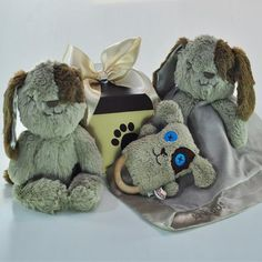 My First Puppy Neutral Baby Hamper Baby Hamper, Toy Puppies, Personalized Baby Gifts, Hampers, Baby Shower Gifts, Neutral, Baby Boy, Gift Wrapping, Toys