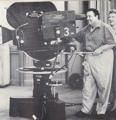 When a camera looks big next to Jackie Gleason. It must be HUGE.