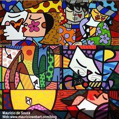 137 best romero britto images romero britto mosaics colouring in rh pinterest com