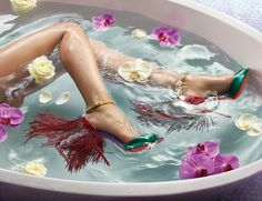 Getting along with Louboutin's Spring 2015 campaign swimmingly.