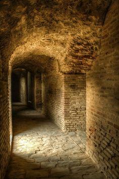 Anfiteatro romano de Italica. Santiponce. Sevilla. Andalucia. Spain
