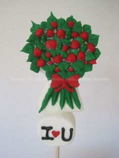 Roses Bouquet Marshmallow Pop