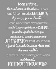 Pour mon Fils adoré ❤ Mantra, Pregnancy Quotes, Quote Citation, Mother Quotes, Live Love, Feel Good, Affirmations, Quotations, Best Quotes