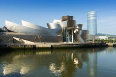 The Guggenheim Museum Bilbao is a museum of modern and contemporary art, designed by Canadian-American architect Frank Gehry.