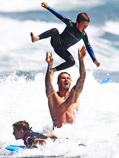 .. Cruz Beckham loves fly by the David Airlines ..