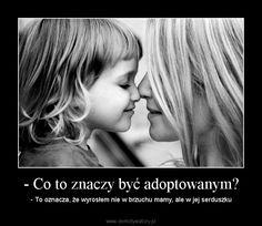 - Co to znaczy być adoptowanym? – - To oznacza, że wyrosłem nie w brzuchu mamy, ale w jej serduszku