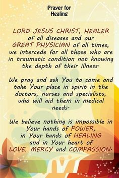 Prayers for my precious Nanny Brenda! Healing Scriptures, Prayer Scriptures, Bible Prayers, Faith Prayer, God Prayer, Power Of Prayer, Prayer Quotes, Catholic Prayers, Christ