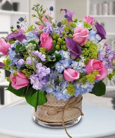 """""""Magnifique Bouquet"""" - This gorgeous bouquet is filled with fragrant roses, stock, calla lilies and more. Clustered together to create a perfect design"""