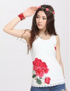 National trend women s chinese style embroidered lace decoration slim  female vest-inTank Tops from Apparel Accessories on Aliexpress.com 39acf7d85