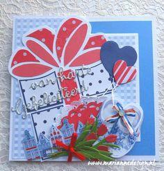 Felicitaties in Hollandse sferen » Marianne Design 3d Cards, Marianne Design, Holland, Tags, Gift, Dutch Netherlands, Netherlands, The Netherlands
