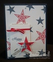 4Th of July Stars #simply stars #memorable moments #stampin up