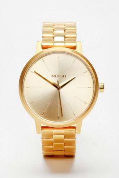 Nixon Kensington Gold Watch | holiday gift ideas