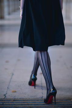 Anna Sofia in black patent Pigalle 100s