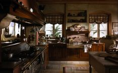 Kitchen:Country Kitchen In Style Of Marchi Cucine Impressive Kitchen With Traditional French Design With Metal Stove And Oven With Kitchen Sink And Kitchen Cabinet And Dish Rack With Wooden Table