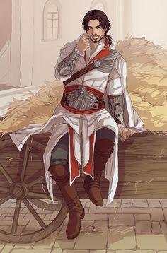 No clue who this is but damn he's cute!!! << Ezio!