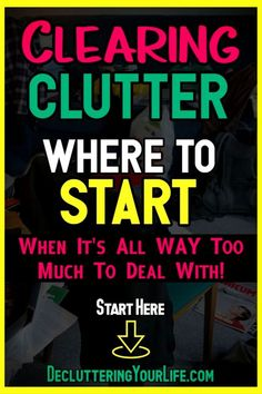 Cleaning hacks tips and tricks for clutter organization, clutter control and clutter SOLUTIONS - home organization ideas on a budget for decluttering your home room by room when feeling overwhelmed by clutter! Speed Cleaning, Deep Cleaning Tips, Cleaning Hacks, Weekly Cleaning, Clutter Organization, Home Organization Hacks, Organizing Ideas, Decluttering Ideas, Organising