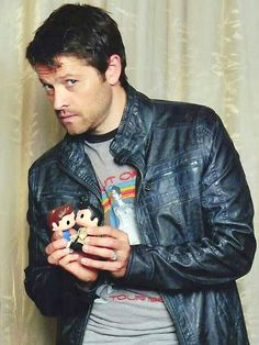 He just had to go there... those dolls I swear Misha really... I say this even though I can't stop laughing.
