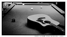 Photo 254 of 365  Acoustic Guitar 2012 - No Sleep For Banditos EP - Tulsa OK    This is a late night pic of an acoustic guitar laid out on our studio pool table. What kind of games do you like to play to keep the mind agile or to kill time? Pool, ping pong, darts, cards?    #Hanson #Hanson20th