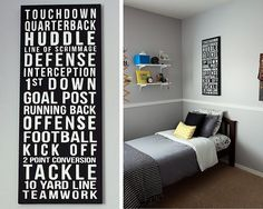 My son's room is gray already like this, just need to add a pop of color.