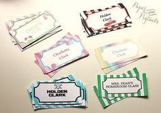 Compilation of Free back to school printables. Editable name tags, homework planner, lunch box notes, etc.