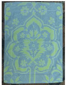 Fresco Towels Venetian Brocade Lime/Sand - Small Bathmat