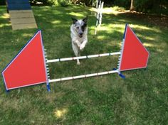 Fabric Wing Jump - Stand alone wing jumps. Aluminum construction means easy to handle light weight. Plastic jump cups for safety. Avilable in 3 styles, Jailbar, Fabric covered, or fabric triangle insert. The fabric wings have awning fabric panels. Includes 2 five foot jump bars. Price $125.00 See them: http://shop.emmcosport.com/Winged-Jump-J0013.htm