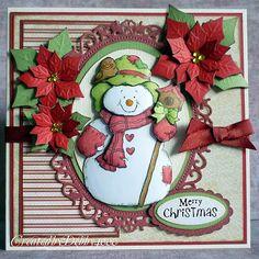 A Scrapjourney: Poinsettia Snowman