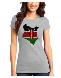 TooLoud Kenya Flag Silhouette Juniors Petite T-Shirt