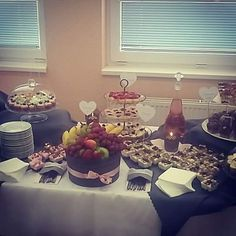 Gray and pink wedding - sweet cake bar :-) by weddinx.sk